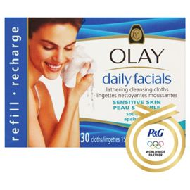 Box of Olay Daily Facials