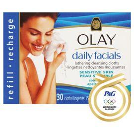 Box of Olay Daily Facials