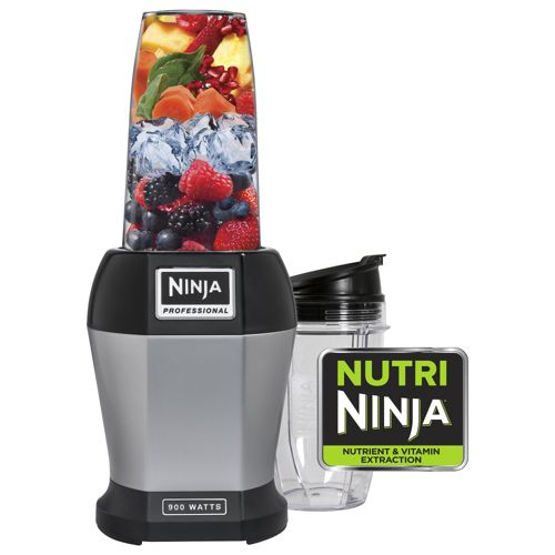Ninja Nutri BL450 900W Fruit & Vegetable Blender with Cups - Black & Silver