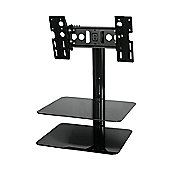 "Eco Mounts by AVF All-in-One Bracket with AV Shelving for 25"" - 40""."