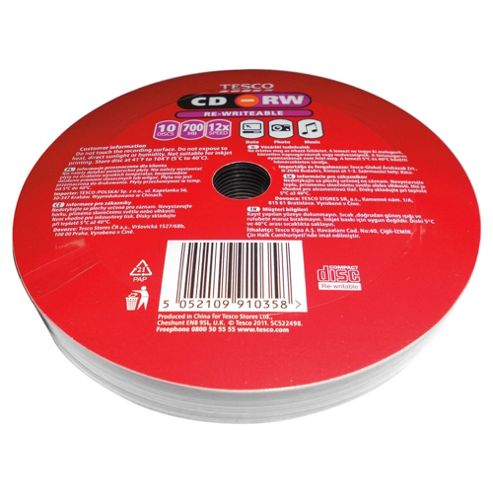Tesco CD-RW - pack of 10.