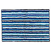 Tesco  Stripe  Towel - Navy