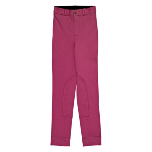 Tesco Girls' Heavy Duty Jodhpurs, Pink, Age 7-8