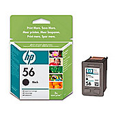 HP 56 Printer Ink Cartridge (smudge proof) - Black (C6656AE)