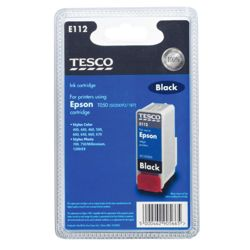 Tesco E112 Black Printer Ink Cartridge (Compatible with printers using Epson T050 (S020093/187) Cartridge)