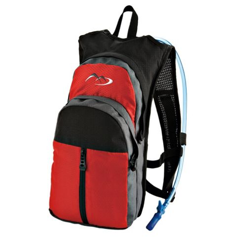 Tesco Hydration Rucksack, Black & Red 6L