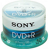 Sony DVD+R 4.7GB 120min 16X 50 Pack