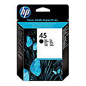 HP 45 Printer Ink Cartridge (smudge proof) - Black (51645AE)