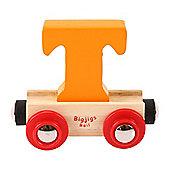 Bigjigs Rail Rail Name Letter T (Orange)