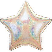 Silver Dazzler Star Balloon - 19' Foil (each)