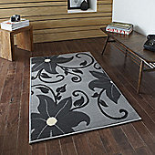 Think Rugs Modena Grey Budget Rug - 115 cm x 170 cm (3 ft 9 in x 5 ft 7 in)