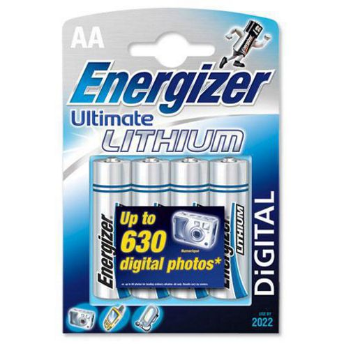 Energizer Ultimate 4 pack lithium AA batteries