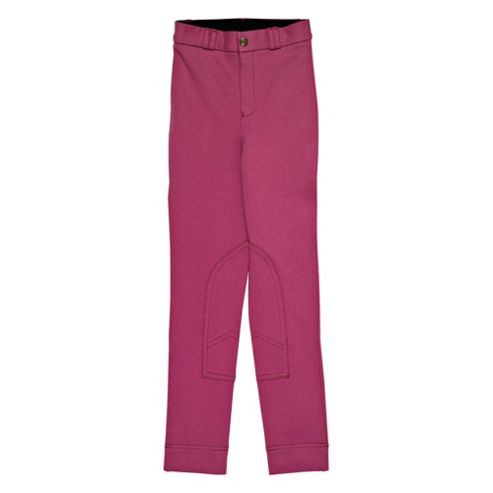 Tesco Girls' Heavy Duty Jodhpurs, Pink, Age 9-10