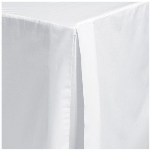 Tesco Single Valance Sheet, White