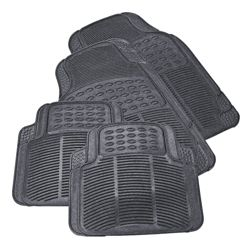 Tesco Car Mats 4 Set Rubber Black