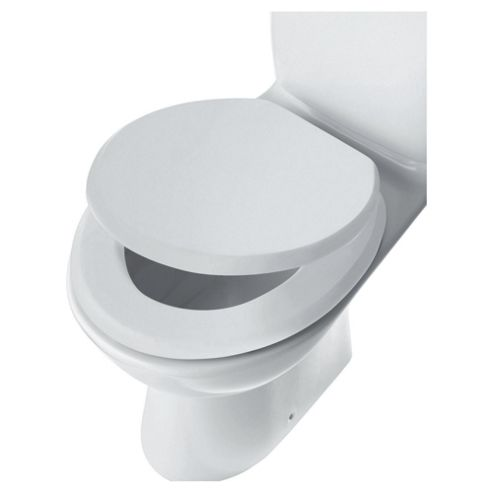 Tesco Wood Toilet Seat, White