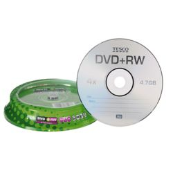 Tesco DVD+RW spindle - pack of 10