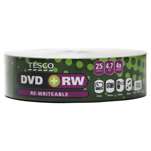 Tesco DVD+RW Non spindle - pack of 25