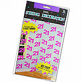 Amscan 21st Foil String Decorations Pink