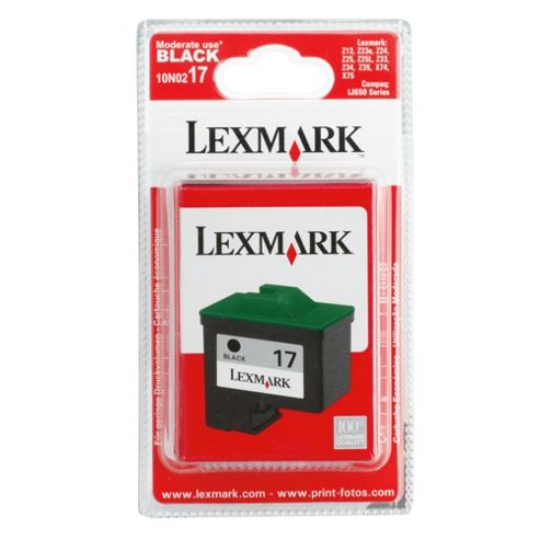 Lexmark 17 Printer Ink Cartridge - Black (10NX217E)