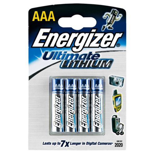 Energizer Lithium 4 Pack AAA batteries