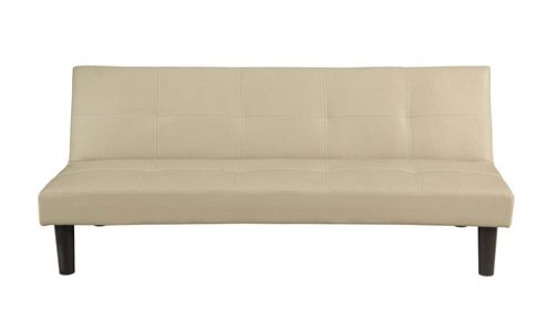 Buy Homegear Faux Leather 2 Seater Folding Sofa Bed Cream