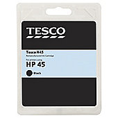 Tesco H70 remanufactured Black Printer Ink Cartridge (Compatible with printers using HP 45 Cartridge)