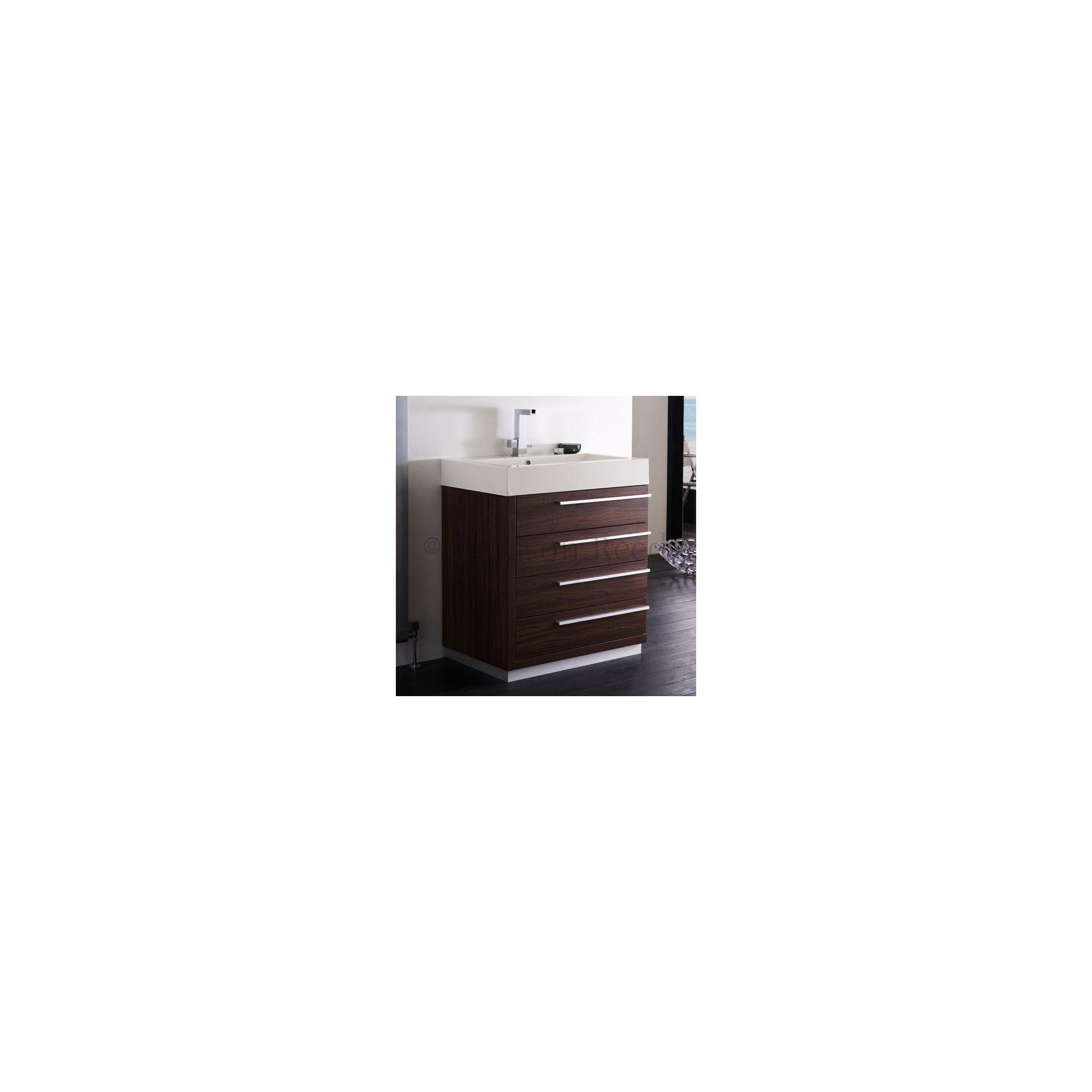 Tesco hudson reed sequence basin and cabinet walnut for Bathroom cabinets tesco