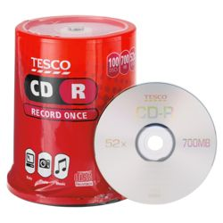 Tesco CD-R Spindle Pack of 100