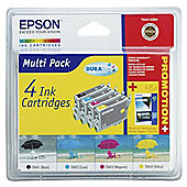Epson T0441408A Black & Colour Printer Ink Cartridge Multipack