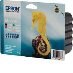 Epson T0487 Multi Colour Printer Ink Cartridge Multipack (Contains T0481, T0482, T0483, T0484, T0485, T0486 cartridges)