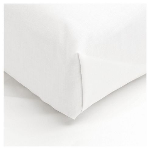 Tesco Single Flat Sheet, White