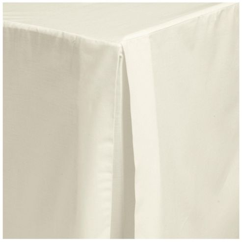 Tesco Valance Sheet Single - Cream (Light)