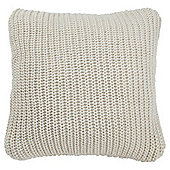 Tesco Chunky Knit Cushion Cream