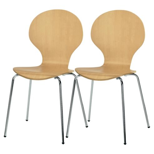 Pair of Bistro chairs, beech