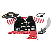 Melissa & Doug Role Play Costume Set Pirate