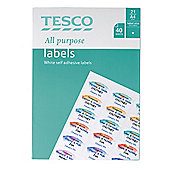 Tesco all purpose labels (40 sheets, 840 labels)