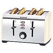 Breville VTT491 4 Slice Toaster - Cream & Stainless Steel