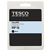 Tesco H15 remanufactured Black Printer Ink Cartridge (Compatible with printers using HP 15 Cartridge)