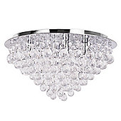 Giant Nakita Flush Ceiling Light in Chrome