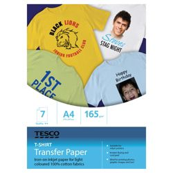 Tesco T-shirt transfers - 7 Sheets