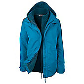 Fell Womens 3 in 1 Water-Resistant Jacket - Blue
