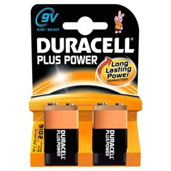 Duracell 2 Pack 9V Alkaline Batteries