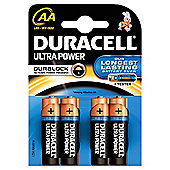 Duracell Ultra Alkaline AA Batteries Pack of 4.