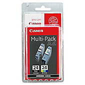 Canon BCI-24 Printer Ink Cartridge - Multipack (Black and colour)