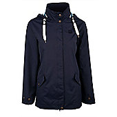 Pacific Womens Lightweight Resistant Showerproof Adjustable Hooded Jacket Coat - Blue
