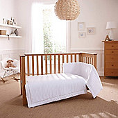 Clair de Lune 3pc Cot Bed Bedding Set (Marshmallow White)