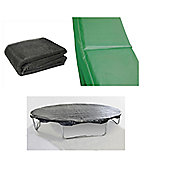 10 Ft Trampoline Accessory pack - Cover, Green Pad and Netting