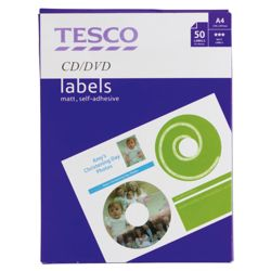 Tesco CD/DVD Labels