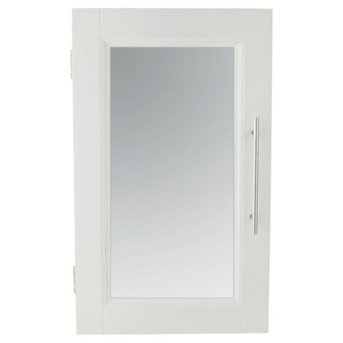 Southwold White Wood Single Door Cabinet With Straight Handle